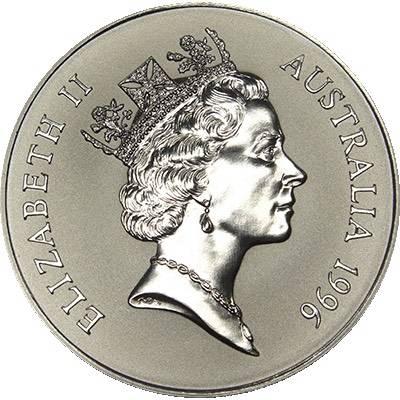 1oz 1996 $1 Silver Kangaroo (Frosted UNC) (Ex Set)