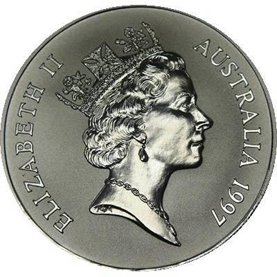 1 oz 1997 $1 Silver Kangaroo (Frosted UNC) (Ex Set)