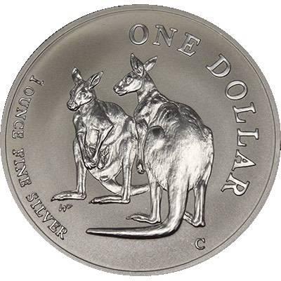 1 oz 1999 $1 Silver Kangaroo (Frosted UNC) (Ex Set)