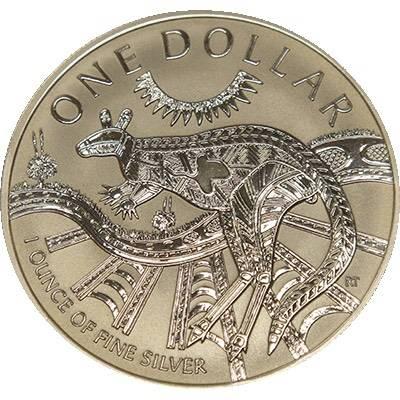 1 oz 2003 $1 Silver Kangaroo (Frosted UNC) (Ex Set)