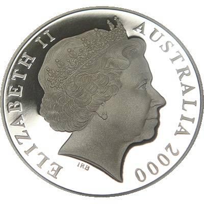 1 oz 2000 $1 Silver Kangaroo (Ex Set)