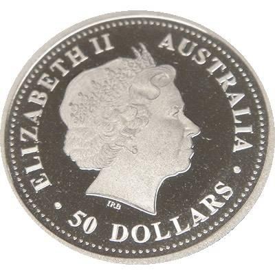 1/2oz 2008 Australia Black-Anther Flax-Lily Platinum Bullion Coin (Ex Set)