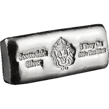 5oz Scottsdale Cast Silver Bullion Bars (Brand New Bars)
