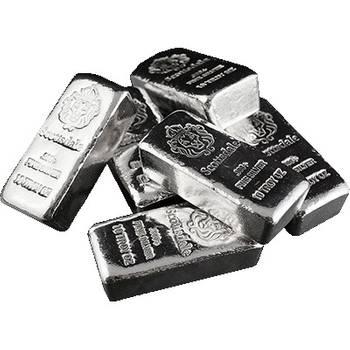 10 oz Scottsdale Chunky Silver Bullion Cast Bar
