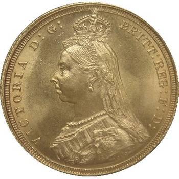 1887 Australia Sydney Victoria Jubilee Head St George Reverse Gold Sovereign Gem Brilliant Uncirculated