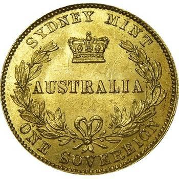 1866 Australia Sydney Mint Type II Gold Sovereign Choice Uncirculated