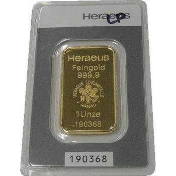 1oz Heraeus Minted Gold Bullion Bar (Mint Condition)-now on specail while stock last!