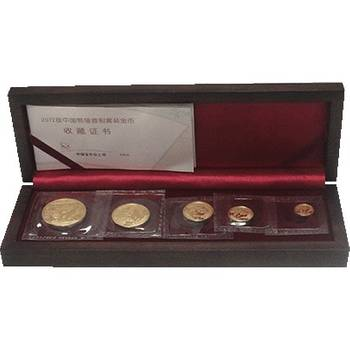 2012 Chinese Panda Gold Bullion Five-Coin Set - 1.9oz Total