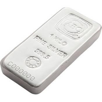1 kg ABC Silver Bullion Cast Bar
