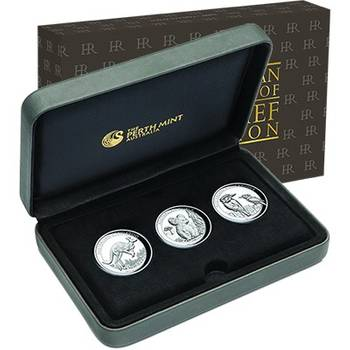 1 oz 2017 Australia High Relief Silver Proof Three Coin Collection