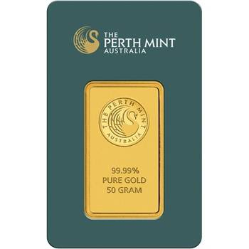 50 g Perth Mint Gold Bullion Minted Bar