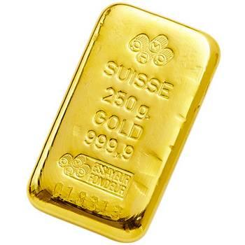 250gram PAMP Suisse Cast Gold Bullion Bar