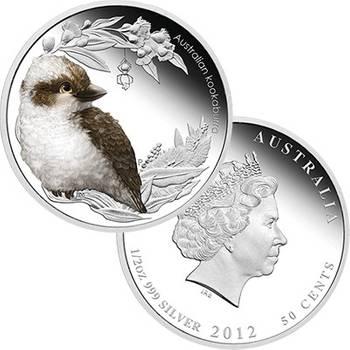 1/2 oz 2012 Bush Babies II Kookaburra Silver Proof Coin