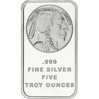 5oz SilverTowne Buffalo Minted Silver Bullion Bars (Brand New Bars)
