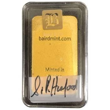 1oz Baird & Co Minted Gold Bullion Bar