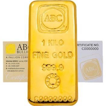 1 kg ABC Cast Gold Bullion  Cast Bar