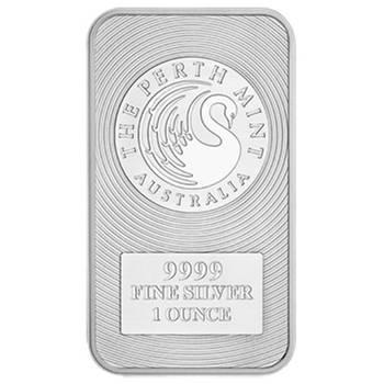 1oz Perth Mint Kangaroo Minted Silver Bar (Brand New Bars)