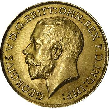 1912 Great Britain King George V Gold Half Sovereign Choice Uncirculated