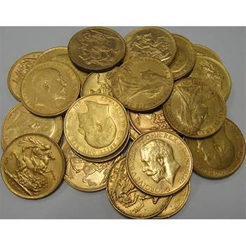 1871-1931 Gold Bullion Sovereigns (Random Dates/Types of Our Choice)
