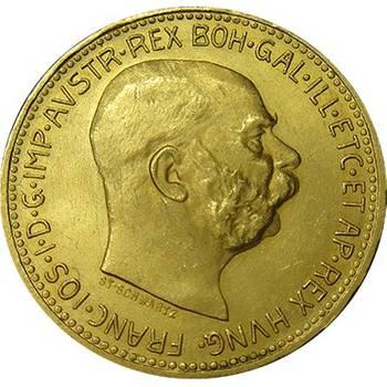 1915 Austria Gold 20 Corona Bullion Coin (Restrikes)