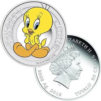 1/2 oz 2018 Looney Tunes Tweety Bird Silver Proof Coin