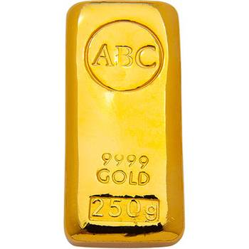 250 g ABC Gold Bullion Cast Bar