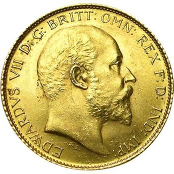 1908 Australia Sydney King Edward VII St George Reverse Gold Half Sovereign Uncirculated