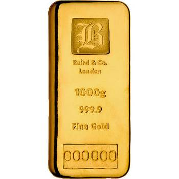 1kg Baird & Co Cast Gold Bullion Bar