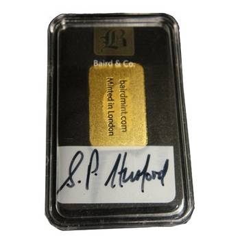 2.5gram Baird & Co Minted Gold Bullion Bar (Brand New Bars)