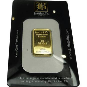 10gram Baird & Co Minted Gold Bullion Bar