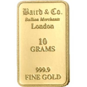 10 g  Baird & Co Gold Bullion Minted Bar