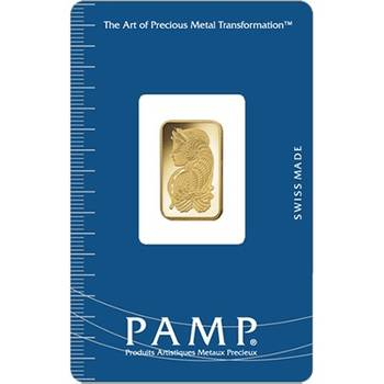 5 g PAMP Suisse Gold Bullion Minted Bar