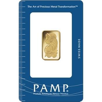 10gram PAMP Suisse Minted Gold Bullion Bar (Brand New Bars)