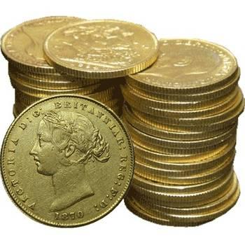 1857-1870 Sydney Mint Type II Gold Bullion Sovereigns