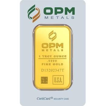 1 oz OPM Gold Bullion  Minted Bar