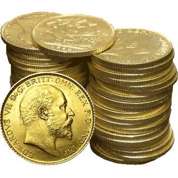 1902-1910 King Edward VII Gold Bullion Half Sovereigns