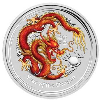 1 kg 2012 Australian Lunar Year of the Dragon Gemstone Edition Silver Proof Coin