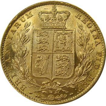 1880 S Australia Victoria Young Head Shield Sovereign Gold Coin