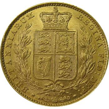 1884 S Australia Victoria Young Head Shield Sovereign Gold Coin