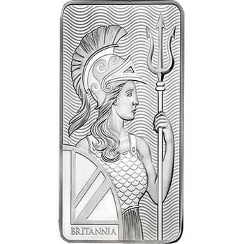 10oz Royal Mint Lady Britannia Minted Silver Bullion Bar