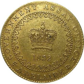 1852 Type II Adelaide Pound good Very Fine