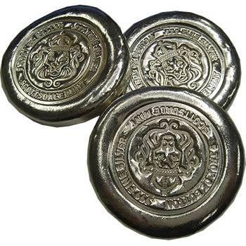 5oz Scottsdale 99.9% Pure Silver Bullion Button Bars