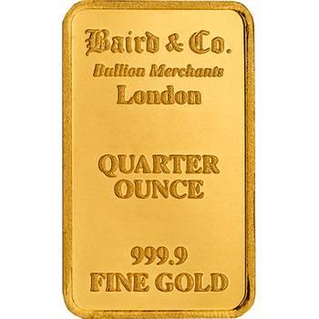 1/4oz Baird & Co Minted Gold Bullion Bar
