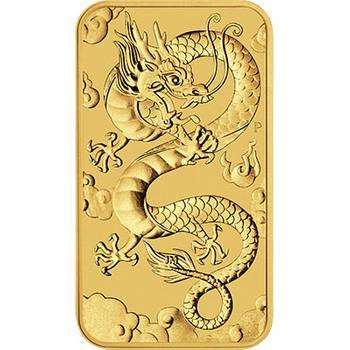 1oz 2019 Australian Rectangular Dragon Gold Bullion Coin