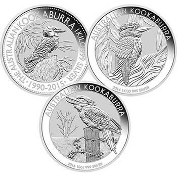 1 kg Australian Kookaburra Silver Bullion Coin- Mixed Dates