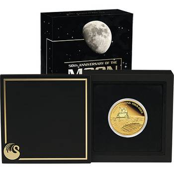 1 oz 2019 50th Anniversary Of The Moon Landing Gold Proof Coin
