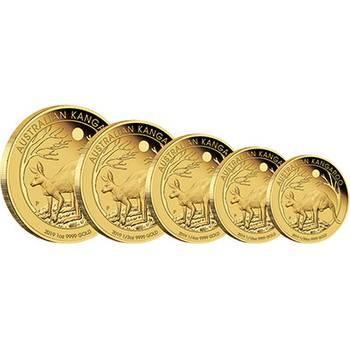 2019 Australian Kangaroo Gold Proof Five Coin Set