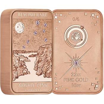 10 oz Lake Argyle Pink Diamond Rose Gold Ingot