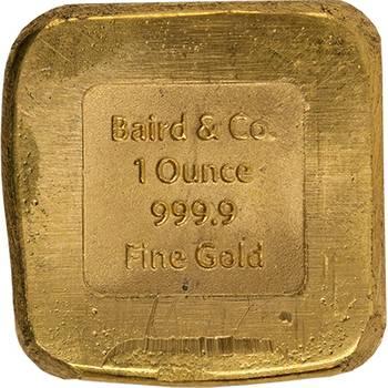 1oz Baird & Co Cast Gold Bullion Bar