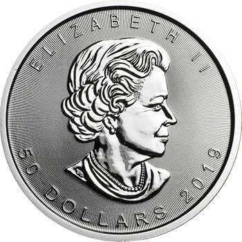 1oz 2019 Canadian Maple Leaf Platinum Bullion Coin (Brand New Coins)